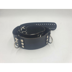 Leather belt with 6 D-Rings