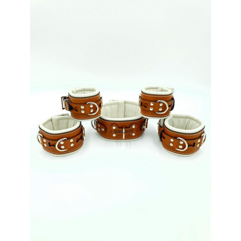 Set Of Brown Medical Leather...