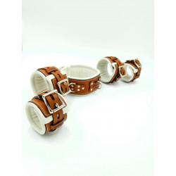 Set of leather clamps...
