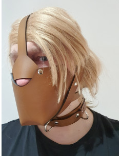 Leather Muzzle + Integrated...