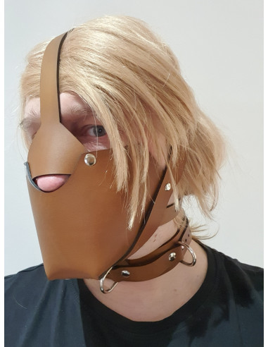 Leather Muzzle + Integrated Collar v1